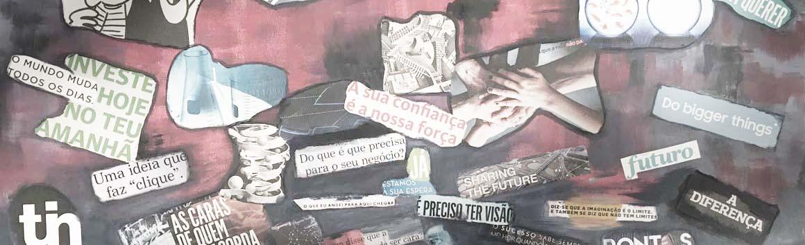Centro de escritórios - veja alguma da nossa arte na nossa copa do work in Marquês