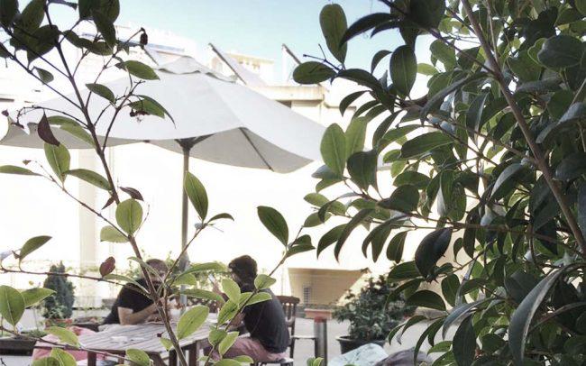 work in Marquês: Terraço. Poderá almoçar, reunir informalmente ou simplesmente fazer uma pausa no terraço.